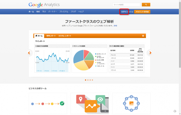 Google Analytics新規登録