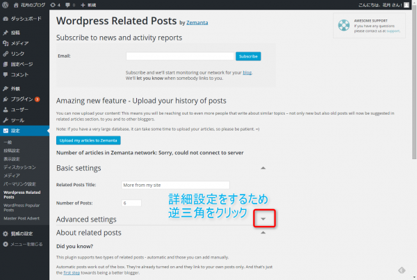WordPress Related Postsの設定