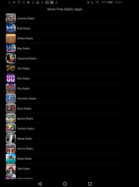 音楽アプリ